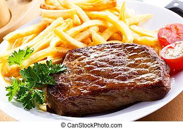 grillé, bifteck