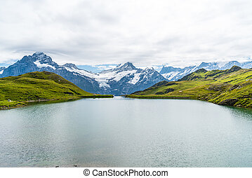 grindelwald, bachalpsee lac, wetterhorn, schreckhorn, suisse