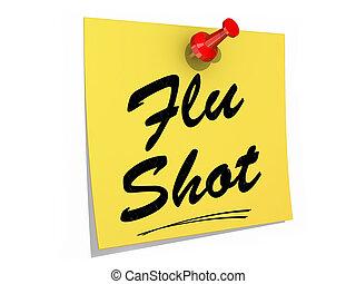 grippe, blanc, coup, fond