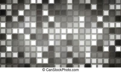 gris, carrés, shimmering, fond, loopable