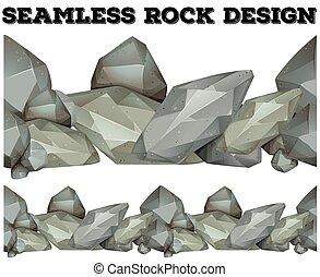 gris, conception, seamless, rocher