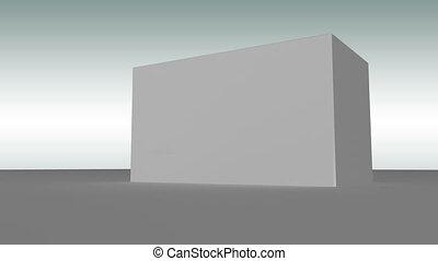 gris, exploser, fitne, révéler, cube