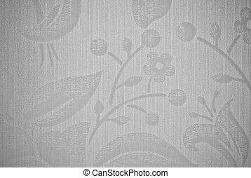 gris, fleur, résumé, texture, fond, ou