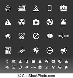 gris, général, utile, fond, icônes
