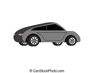gris, moderne, voiture