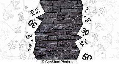 gris, mur pierre, texture, escompte, bons