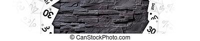 gris, mur pierre, vente, texture, dégagement