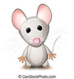 gris, peu, souris