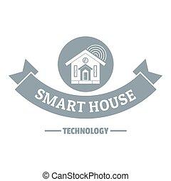 gris, style, contrôler, simple, intelligent, logo