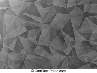 gris, triangle, résumé, chevauchement, formes, fond, sombre