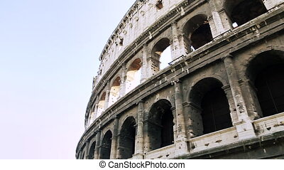 gros plan, ancien, attraction touristes, attractions, italy., rome., une, la plupart, amphithéâtre, capital, populaire, italien