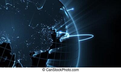 gros plan, business, boucle, -, global