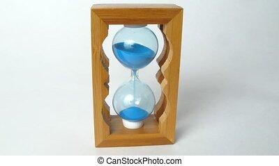 gros plan, courant, bois, défaillance, temps, sandglass, vue
