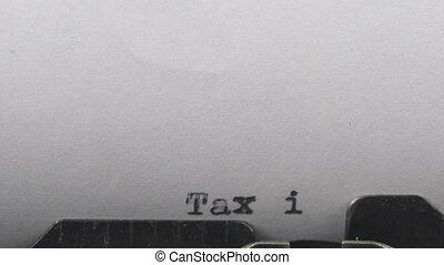 gros plan, dactylographie, feuille, machine écrire, texte, vendange, vieux, facture, impôt, paper.