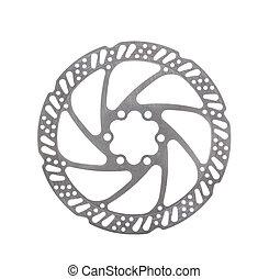 gros plan, frein, disque, roue, vélo