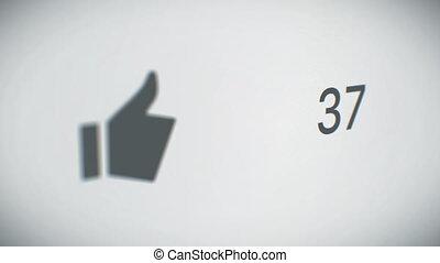 gros plan, goûts, business, animation., compteur, dof, 3d, rapidement, blur., perspective, increasing., vue, hd, ultra, technologie, concept., 3840x2160., 4k