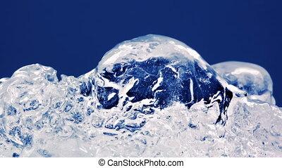 gros plan, timelapse, glace, dégeler