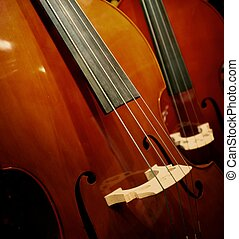 gros plan, violin.
