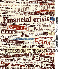 gros titres, financier, crise