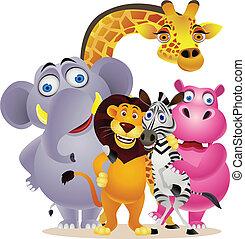 groupe, animal