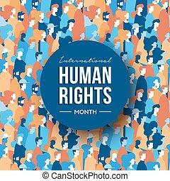 groupe, droits, gens, mois, humain, international