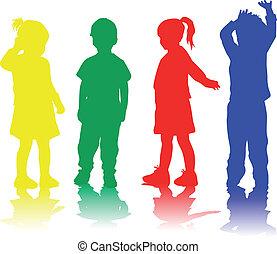 groupe, enfants