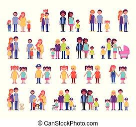 groupe famille, membres, caractères