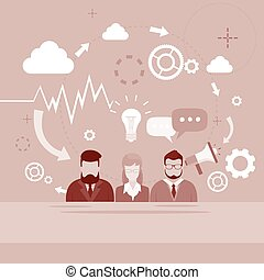groupe, finance, professionnels, graphique, diagramme, infographic