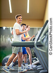 groupe, fitness
