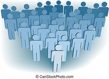 groupe, gens, compagnie, ou, congrégation, population, symbole, 3d