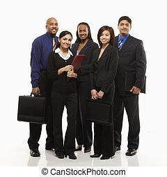 groupe, portrait., business