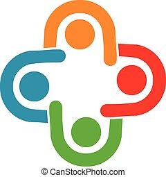 groupe, relation, professionnels, collaboration, collaboration, 4, réunion
