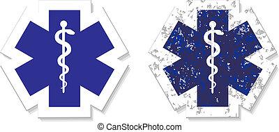 gru, urgence, symbole, monde médical