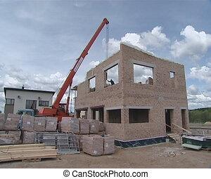 grue, ouvrier construction