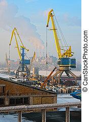 grues, docks