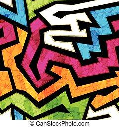 grunge, coloré, effet, texture, seamless, graffiti