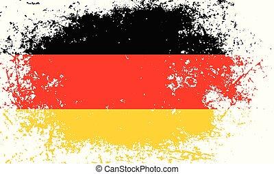 grunge, color), pays, national, jaune, (black, drapeau, allemagne, fond, textured, rouges