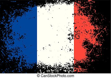grunge, color), pays, national, textured, drapeau france, (blue, fond, blanc, rouges