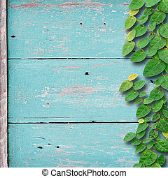 grunge, couleur, fixation, arbre, lierre, bois, arrière-plan vert, plant.