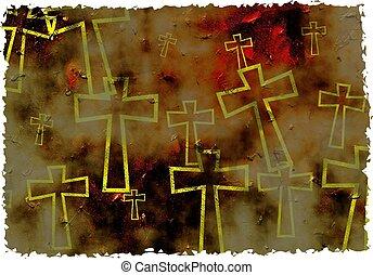 grunge, croix
