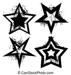 grunge, ensemble, étoile