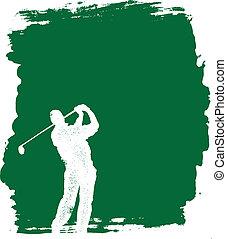 grunge, golf, fond