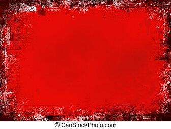 grunge, rouges