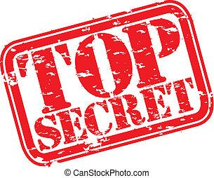 grunge, sommet, timbre, caoutchouc, top secret, vec