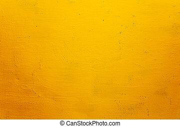 grunge, texture, fond, mur, jaune