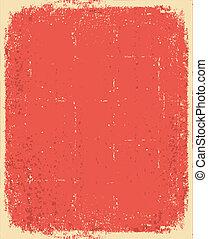 grunge, texture, texte, vieux, vecteur, paper., rouges