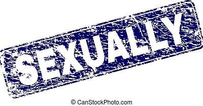 grunge, timbre, encadré, sexuellement, arrondi, rectangle