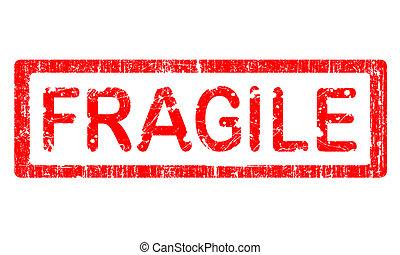 grunge, timbre, fragile, -, bureau