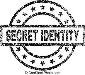 grunge, timbre, textured, top secret, cachet, identité