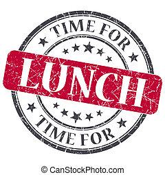 grunge, timbre, vendange, textured, isolé, temps déjeuner, rouges
